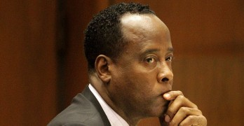 Conrad Murray during the trial