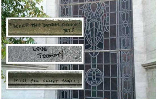 Michael Jackson Tomb Vandalized