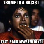 Trump is a racist that is fake news that is fed to you