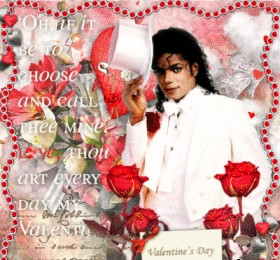 MJ Valetine Day card with quote